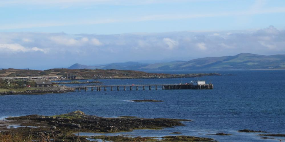 Photos of the South Pier on the Isle of Gigha by Barry Kaye, September 2017.