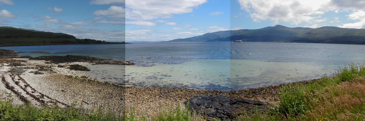 Photographs of the Hotel Beach, Lochaline, by Barry Kaye July 2007.