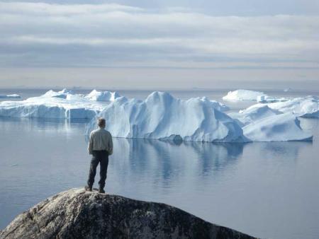 Photo of Greenland icebergs by Gordon Fletcher