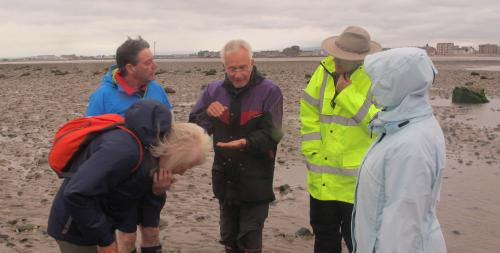Gordon talking about some of the finds