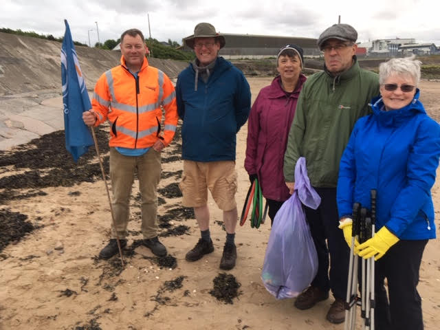 Photo at the end of the beach clean in June, by Ian Croucher.